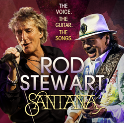 Rod Stewart & Carlos Santana at Fiddlers Green Amphitheatre