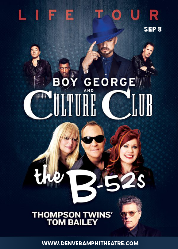 Boy George, Culture Club & The B-52s at Fiddlers Green Amphitheatre
