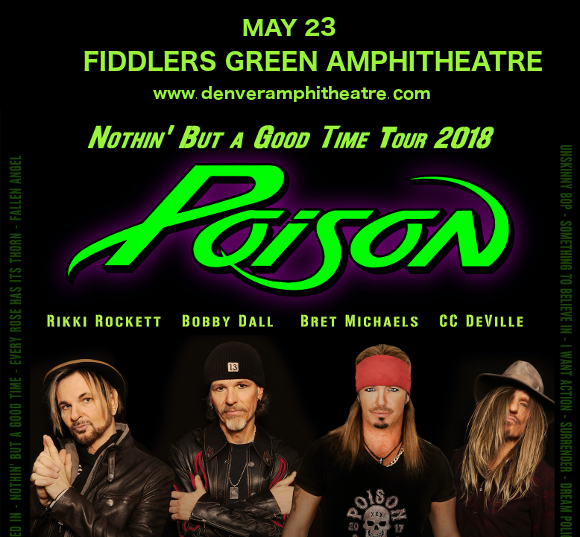 Poison & Cheap Trick at Fiddlers Green Amphitheatre