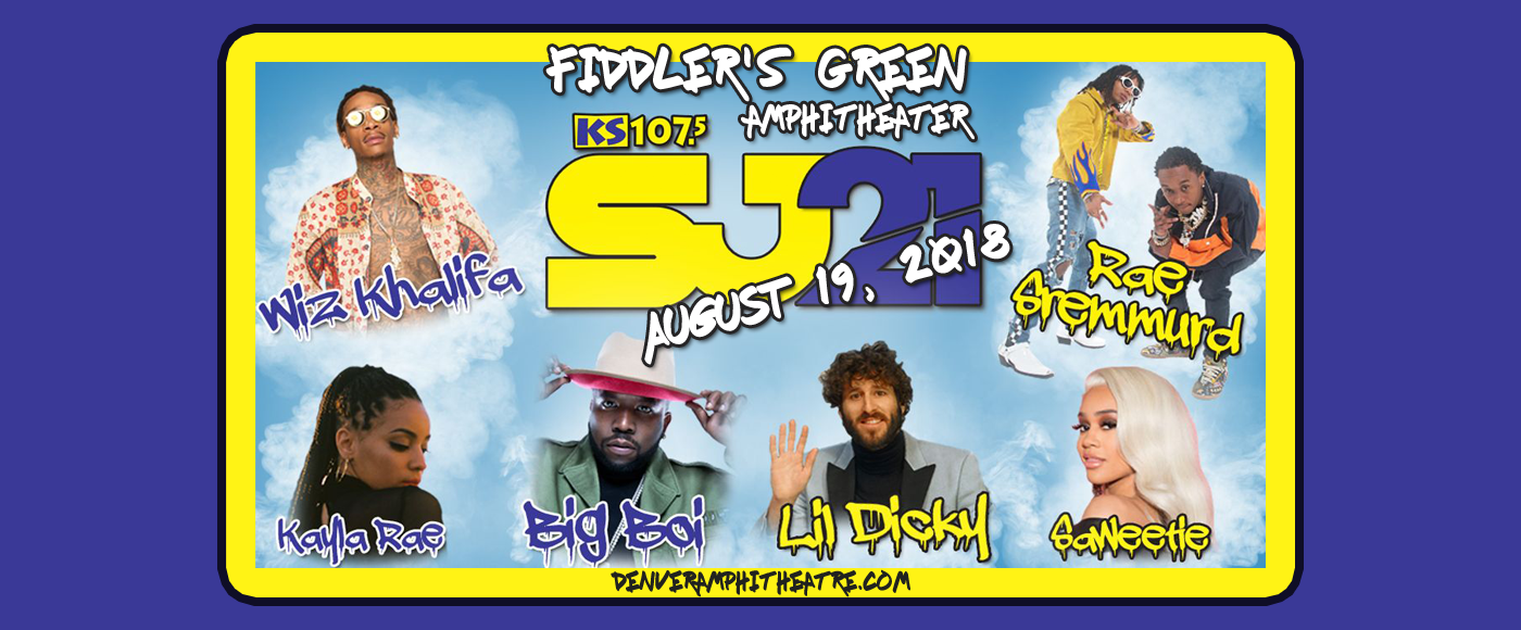 KS 107.5 Summer Jam 21: Wiz Khalifa, Rae Sremmurd & Lil Dicky at Fiddlers Green Amphitheatre