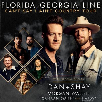 Florida Georgia Line, Dan and Shay & Morgan Wallen at Fiddlers Green Amphitheatre
