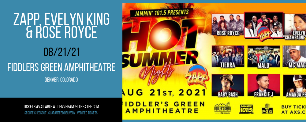 Zapp, Evelyn King & Rose Royce at Fiddlers Green Amphitheatre